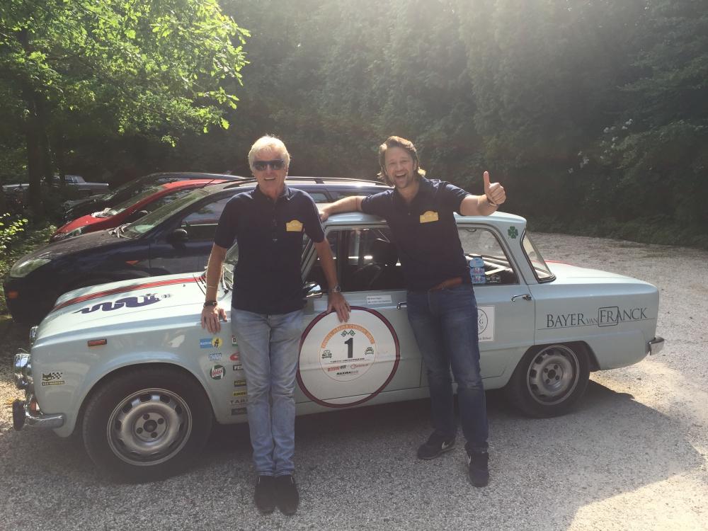 Boris en Johan voor de winnende Alfa!